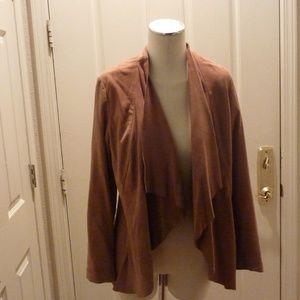 Brown Suede INC Wrap Blazer